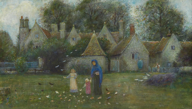 Marie Spartali Stillman (British, 1844-1927) View of Kelmscott Manor