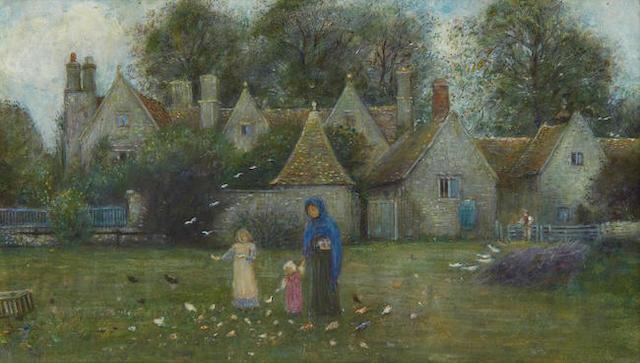 Marie Spartali Stillman (British, 1844-1927) View of Kelmscott Manor