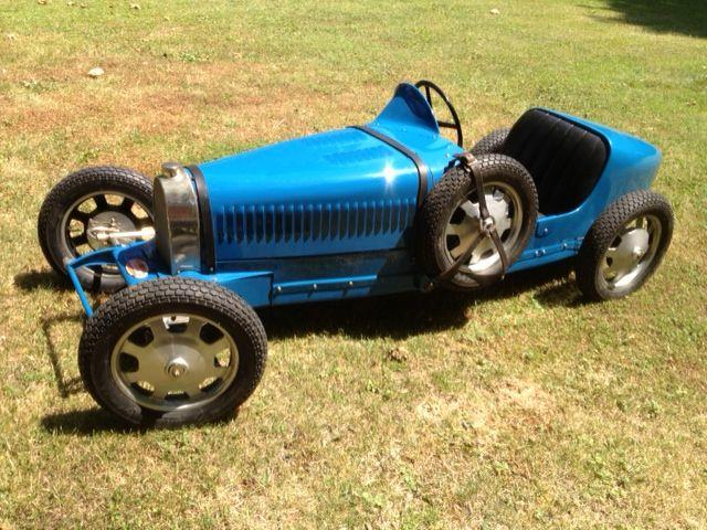 A half scale 'Baby' Bugatti Type 52 replica child's car, by Crosthwaite & Gardiner,