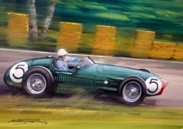 Michael Turner (1934- ): Roy Salvadori/Maserati 250F,