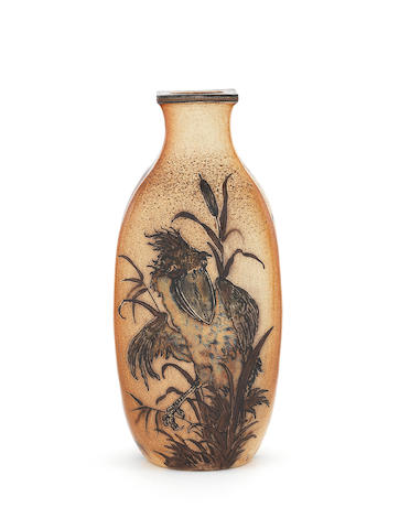 Martin Brothers a Stoneware Vase with Two Grotesque Birds, 1899