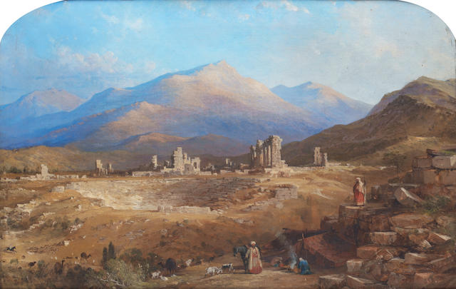 Thomas Allom (British, 1804-1872) The ancient church of St. John with the Citadel, Pergamos; The ruins of Laodicea, a pair (2)