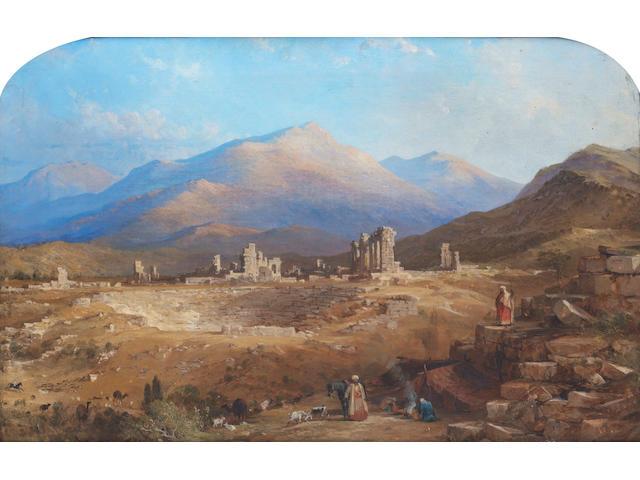 Thomas Allom (British, 1804-1872) The ancient church of St. John with the Citadel, Pergamos; The ruins of Laodicea, a pair (2)
