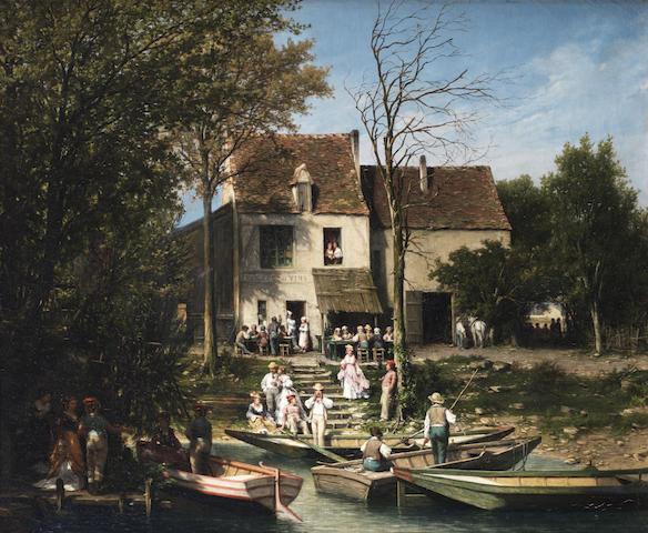 Léon Legat (French, born 1829) La Guinguette