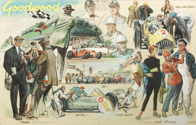 John Bertram Musgrave-Wood (1915-1999); 'Goodwood 1953',