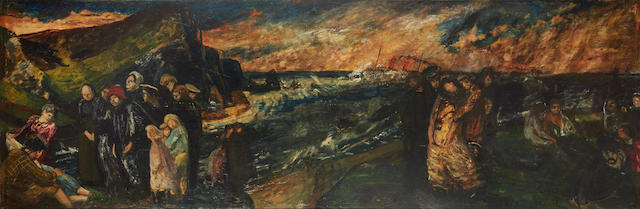 Carel Weight R.A. (British, 1908-1997) The shipwreck, 1951