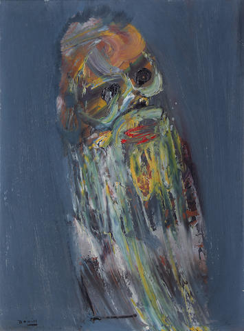 Daniel O'Neill (Irish, 1920-1974) Head of a bearded man