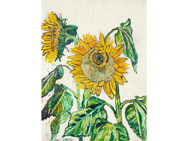 John Bratby R.A. (British, 1928-1992) Sunflowers