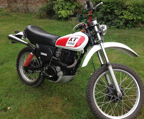 1977 Yamaha XT500 Frame no. 1U6-000261 Engine no. 1U6-000261