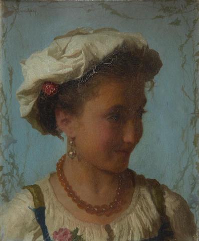 Adriano Bonifazi (Italian, 1858-1914) Italian beauty