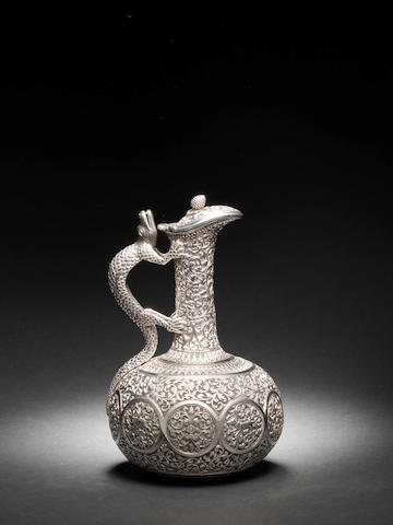 A fine repoussé silver Claret Jug Kutch, late 19th Century