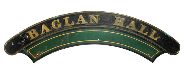 The original Baglan Hall Great Western Railways locomotive nameplate