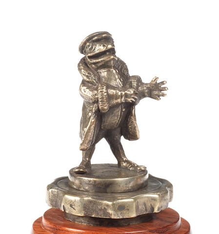 A 'Toad of Toad Hall' mascot, by A E Lejeune, British, circa 1910,