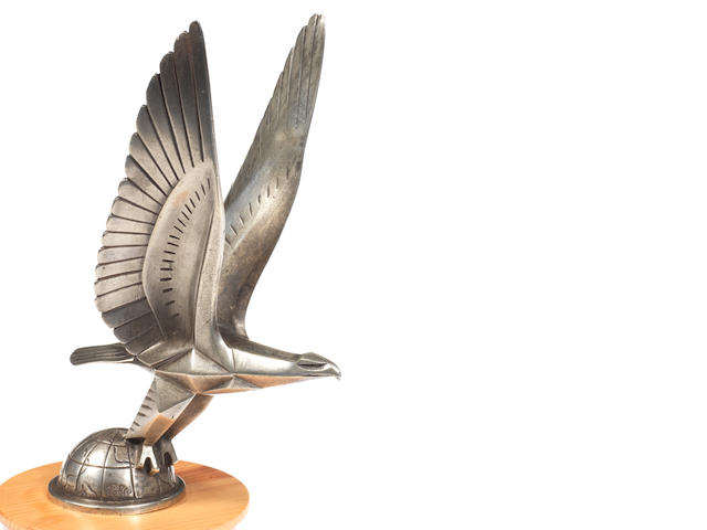 An Eagle mascot by Casimir Brau for Messier Automobiles of Paris, circa 1929,