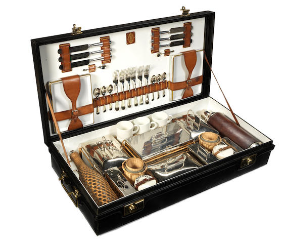A fine cased Coracle brand picnic set for six persons, by G W Scott & Sons, 1920s,
