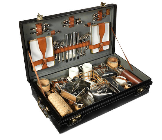 A fine cased Coracle brand picnic set for four persons, by G W Scott & Sons, 1920s,