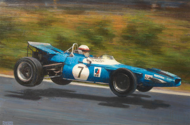 To be sold on behalf of Dyslexia Scotland,Jonathan Mitchell, '1969 German Grand Prix - Jackie Stewart in the Matra MS80'