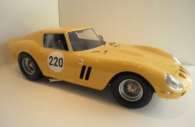 A 1:8 scale model Ferrari 250GTO by Javan Smith,