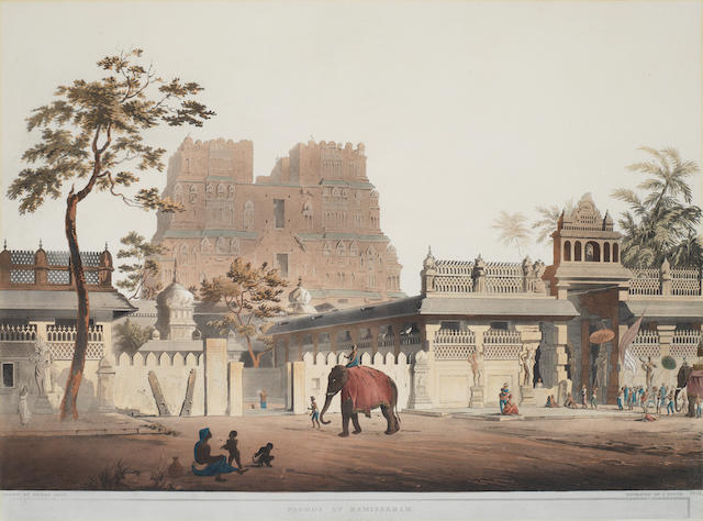 SALT (HENRY) Pagoda at Ramisseram; Pagoda at Tanjore