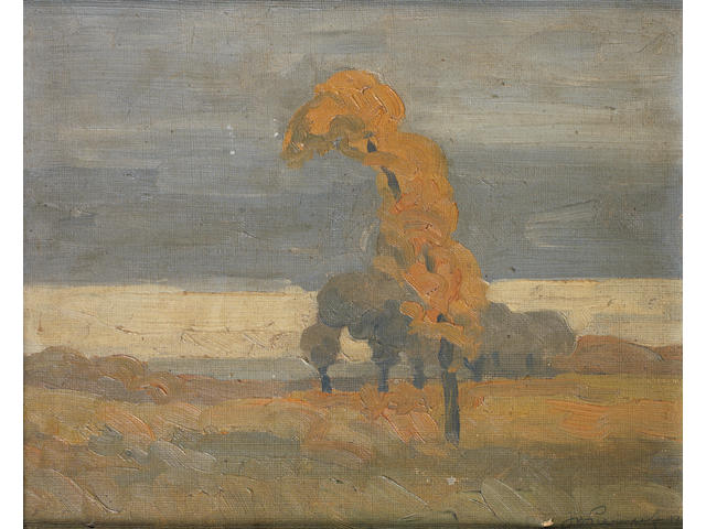 Jacob Hendrik Pierneef (South African, 1886-1957) Tree in the veld