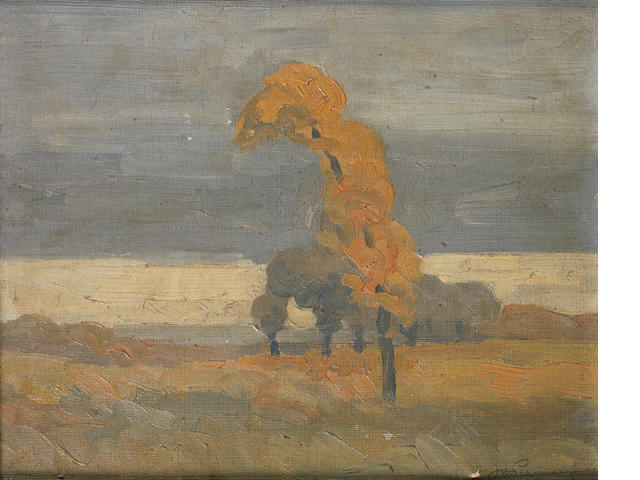 Jacob Hendrik Pierneef (South African, 1886-1957) Tree in the veld