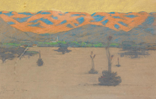Jacob Hendrik Pierneef (South African, 1886-1957) Sunlight at Rustenburg