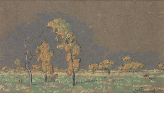 Jacob Hendrik Pierneef (South African, 1886-1957) 30.5 x 46cm (12 x 18 1/8in); 16.5 x 29.5cm (6 1/2 x 11 5/8in). (2)