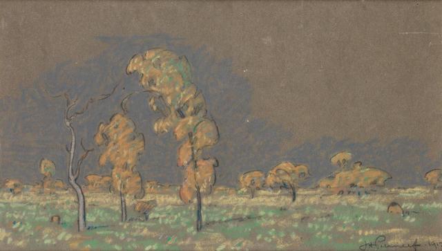 Jacob Hendrik Pierneef (South African, 1886-1957) 30.5 x 46cm (12 x 18 1/8in); 16.5 x 29.5cm (6 1/2 x 11 5/8in). (2)