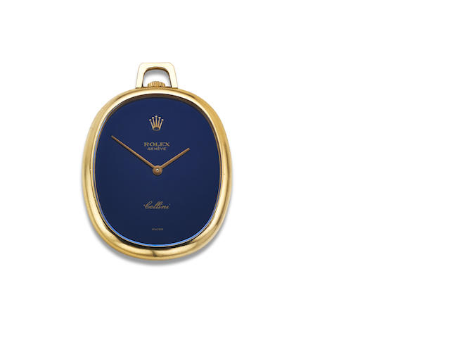 An open-faced 'Cellini' fob watch, by Rolex