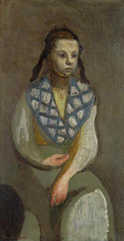 Zdzislaw Ruszkowski (Polish, 1907-1991) Anna in Dressing Gown