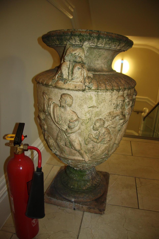 A 19th century terracotta garden urnProbably Garnkirk