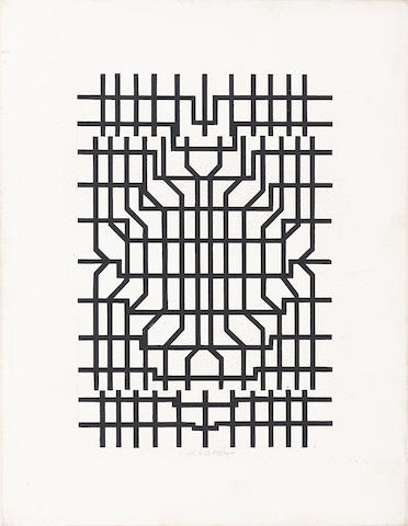 Victor Vasarely (1906-1997) Grille   1952-1963