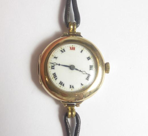 A lady's 9ct gold wristwatch, by Rolex, Birmingham 1916