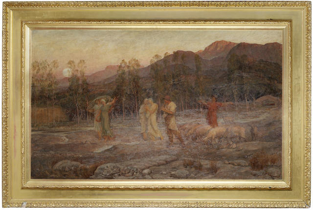 Sir William Blake Richmond, RA (British, 1842-1921) A Pastoral - A Memory of the Valley of Sparta