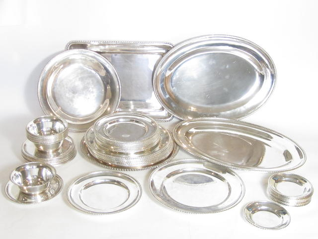 A collection of Italian silver serving and dining dishes stamped 800, most with another mark which although unclear resembles the lozenge used 1934-1944