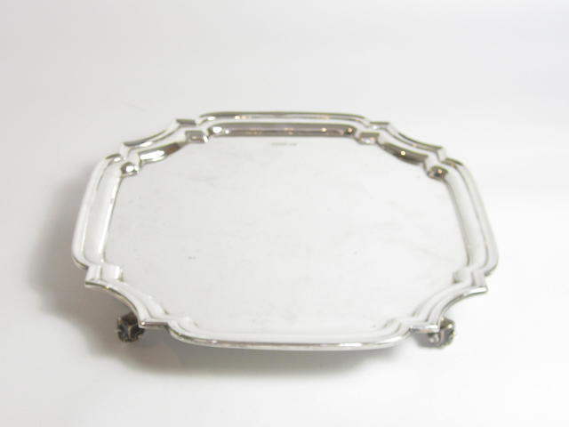 A silver salver by E.Viner, Sheffield 1930