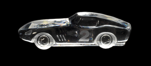 A Ferrari 275 Long Nose glass deskpiece, by Daum,
