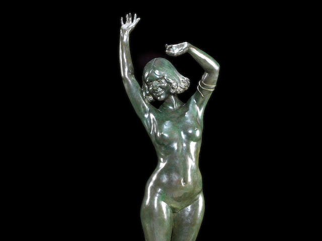 Ferdinand Ouillon-Carrère (fl. early 20th century) A Life-size Patinated Bronze Statue