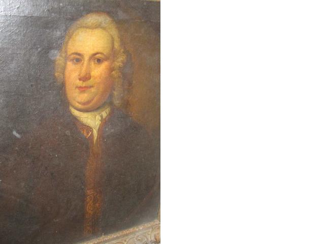 English School 18th. Century portrait of Thomas Putt of Combe Estate, Gittisham