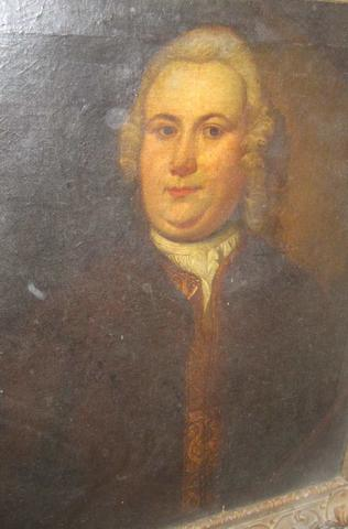 English School 18th. Century possibly a portrait of Thomas Putt of Combe Estate, Gittisham