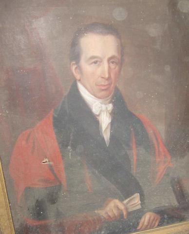 English School, Mid-19th Century Portrait of a gentleman possibly Richard Marker of Combe Estate, Devon