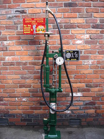 A Gilbert and Barker Type 206 model 12 one gallon petrol pump