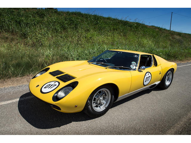 Delivered new to Rod Stewart; one of seven right-hand drive examples; restored by the factory,1972 Lamborghini Miura SV Coupé  Chassis no. 4818 Engine no. 30734