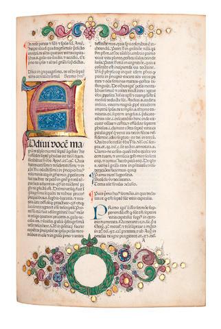 CARCANO (MICHAEL DE) [Sermonarium de peccatis per adventum et per duas quadragesimas], 2 vol. bound in 1, [Venice, Franciscus Renner, de Heilbronn, and Nicolaus de Frankfordia, 1476]
