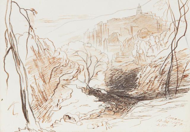 Edward Lear (British, 1812-1888) 'Ceriana'