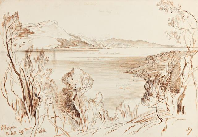 Edward Lear (British, 1812-1888) 'St. Hospice'