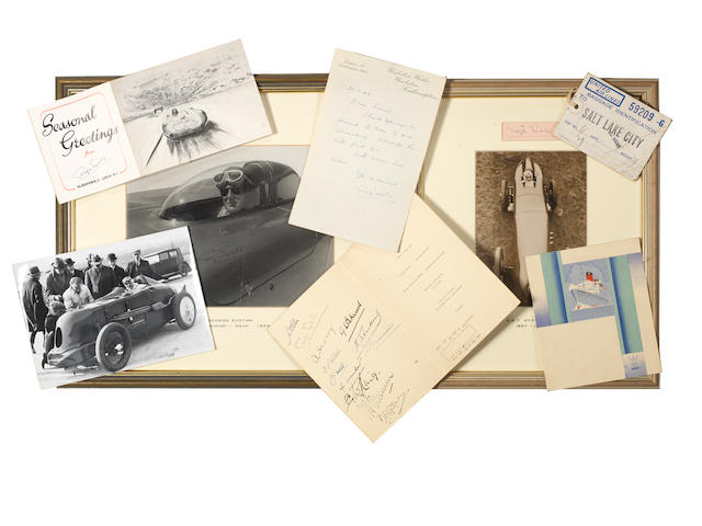 A collection of George Eyston Land Speed and Record Breaking memorabilia,