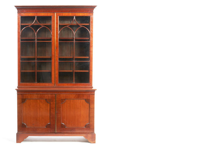 A late 19th/early 20th century mahogany bookcase in the George III style