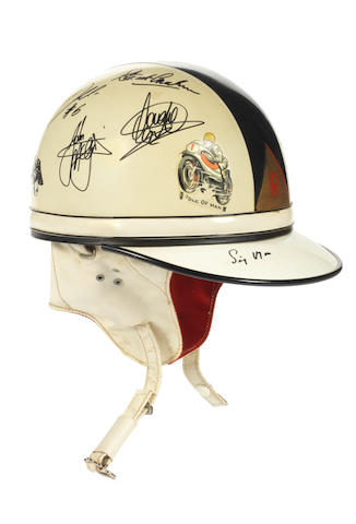 A multiple signed helmet by Slazenger, Offered on behalf of The Henry Surtees Foundation,