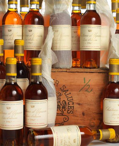 Chateau d'Yquem 1967 (23 half-bottles)
